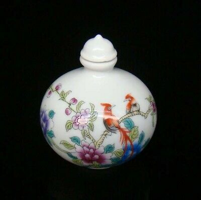 Collectible 100% Handmade Painting Porcelain Snuff Bottles Flower Bird 04