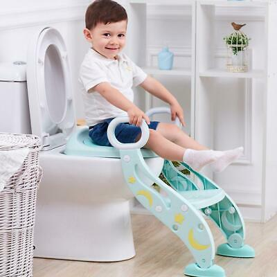 Folding Baby Toddler Potty Training Seat Chair Kids Toilet Step Stool Ladder US