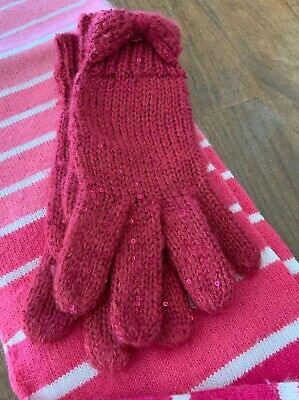 Pink Target Winter Scarf And Gloves O/S