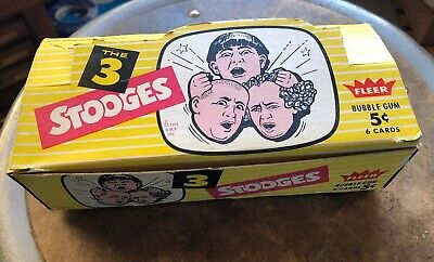 Vintage Fleer 1959 The Three Stooges Bubble Gum Card Display Box+ One Wrapper