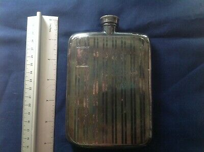 """Silver plated 6"""" English Hip Flask"""