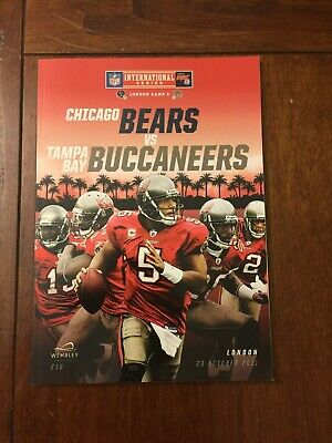 CHICAGO BEARS vs TAMPA BAY BUCCANEERS - LONDON GAME PROGRAM 10/23/11 - NEW COND.