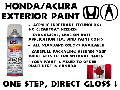 Honda Do It Yourself, Easy 1K Car Paint Spraycan For Touch Up, Most Colors
