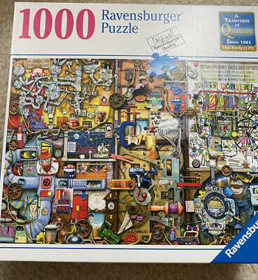 Ravensburger Inventor's Cupboard NEW 1000 Piece Puzzle. Quick Shipping !