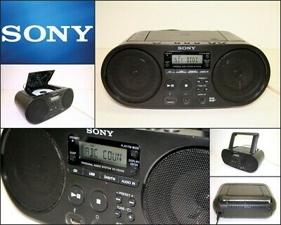 SONY ZS-PS55B Portable CD Boombox with USB DAB+ FM Digital Radio Audio In Port