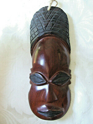 African Wood Tribal Wall Plaque
