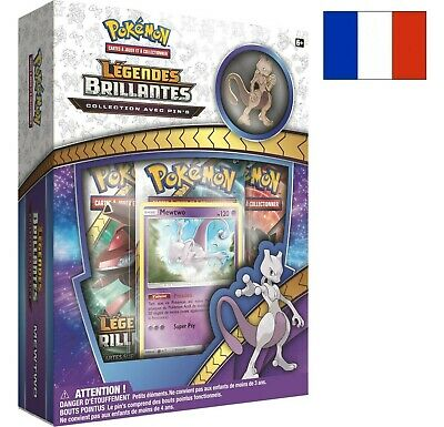 Coffret Pokémon Pin's Mewtwo Sl 3.5 Légendes Brillantes Pin Box Francaise Neuve