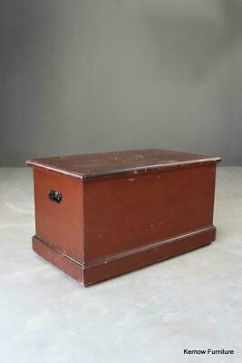 Vintage Rustic Solid Pine Hinged Trunk Blanket Box Chest Storage Toys