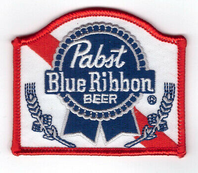 Small PABST Blue Ribbon Beer Hipster PBR Biker MC Jacket Patch