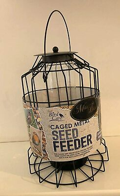 Large Metal Seed Feeder - Cage Bird Feeder - 26x18cm approx