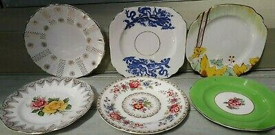 Beautiful Vintage mis matched Assorted China Tea Side Cake Plates x6/28
