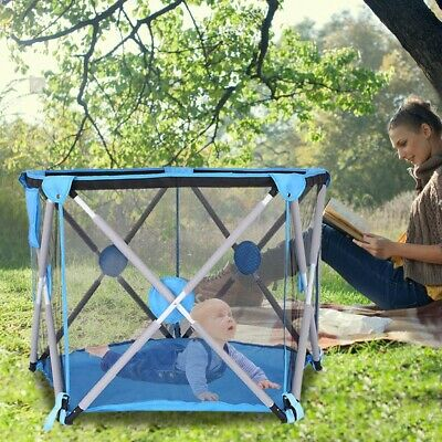 Kids Portable Collapsible Travel Crib Tent Ball Pool Game House Children's