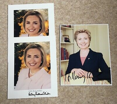 Hillary Clinton Genuine Signed Photograph job lot of Authentic Genuine 3 10x8