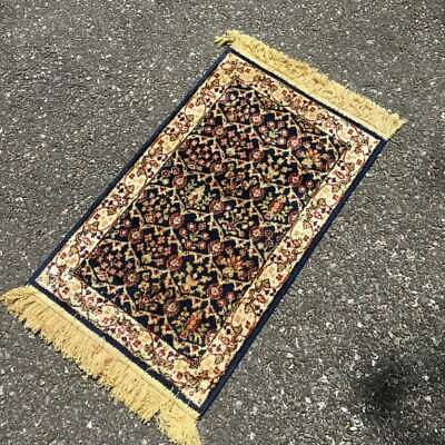"""Navy Printed Toss Rug with Fringe 32""""x19"""""""