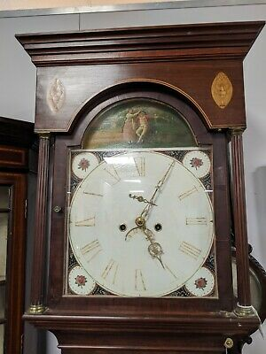 Superb Quality Georgian Mahogany Inlaid 8day Grandfather Clock Running