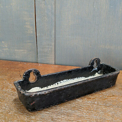 Black & White Cast Iron Victorian Drip Trays with Hanging Loops