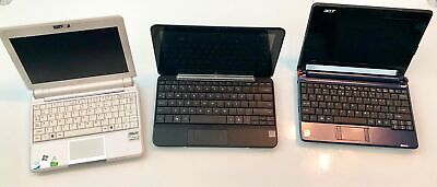 3 computer lot HP Mini 1030NR, Asus EEE PC901, Acer ZG5.