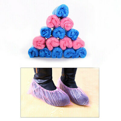 100PC Disposable Plastic Thick Outdoor Waterproof Carpet Cleaning Shoe Cover GB