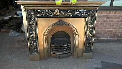 The Carron Mayfair Cast Iron Fireplace Surround with Prince Fireplace Insert