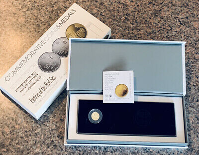 2008 Parting Of The Water NIS 1 Gold Proof Biblical Art Coin .999 Fine Gold