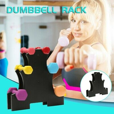 Dumbbell Rack Stand 3 Tier Dumbbells Hand Weights Sets Holds 30 Pounds GB