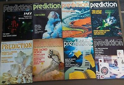 Prediction Magazines X 8 1978 & 80. Tarot, Occult, Astrology