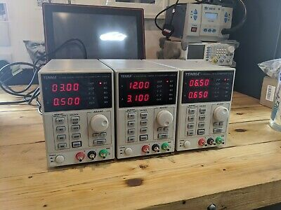 3x Tenma Lab Bench DC Variable Adjustable Power Supply 0-30V 3A Current PSU