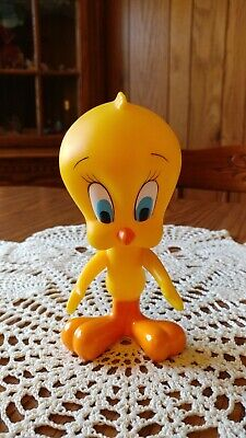 "Vintage Warner Bros Looney Tunes Tweety Bird Approx. 6"" Hard Plastic"