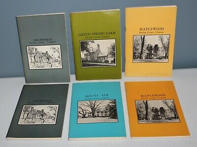 SIX BOOKS! Softcover 1970'S FAIRFAX COUNTY VA Architecture HOUSES