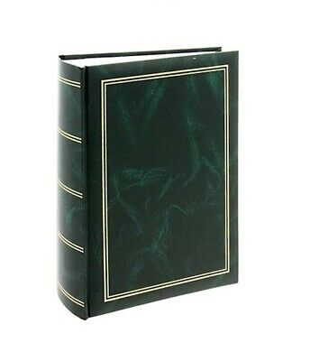 "FAULTY Classic Large Green Slip In Photo Album Holds 500 6"" x 4"" Photos Memo"