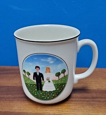 VILLEROY & BOCH china Design Naif Wedding pattern Mug - 3-5/8""