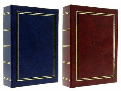 "Burgundy / Navy Blue Slip In Photo Album Set 2 x 300 6"" x 4"" Photos Gift"