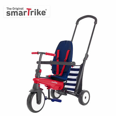 smarTrike smarTfold 300, 5-in-1 Folding baby Tricycle, 10M+ - Navy