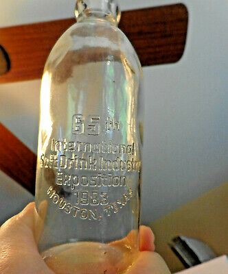 Vintage Hutch Soda Bottle Soft Drink Expo 1983 Houston Texas Anchor Hocking