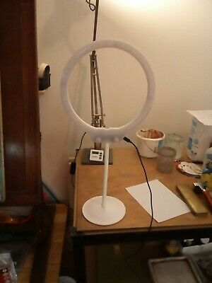 "Ring Light, ZOMEI 10"" LED Ring Light, Dimmable Desktop USB Light 7.5W 3200-5500K"