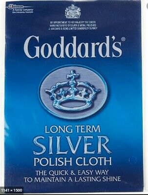 Goddards Silver Jewellery Polish Polishing Cleaning Clean Cloth