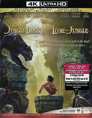 The Jungle Book (2016) (4K Ultra Hd/Bluray)(2 Disc Set)(Used)