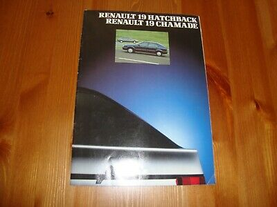 Renault 19 hatchback & Chamade 1990 & price guide