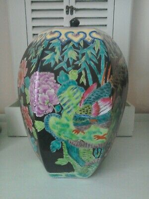 Large Antique Chinese hand painted Ginger Jar