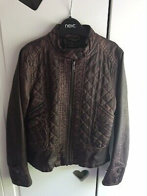 Girls Faux Leather Jacket Age 7-8 Years
