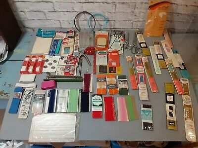 Lot of 50 Plus Vintage Sewing Notions & Supplies