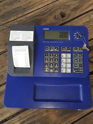 Casio SE-G1 Electronic Cash Register Blue with Rear Display  & Keys