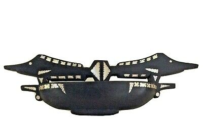 Ceremonial offering bowl shell inlay  MAROVO LAGOON  Solomon Islands tribal art