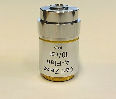 Zeiss  A-Plan 10x/0.25 ~  Microscope Objective 160mm Part # 460417
