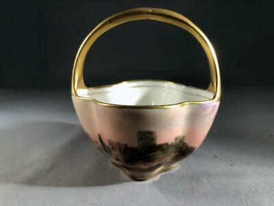 Very Rare And Beautiful Hand Painted Miniature Basket J.h. Plant - Perfect