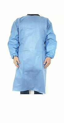 Gown Disposable Surgical Medical Protective Non-woven 5 Count SameDay Shipping
