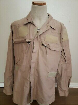 Rare US Military Desert camo helicopter pilot / air crew 2 piece flight suit top