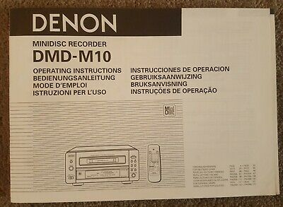 Denon DMD-M10 Operating Instructions