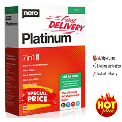 Nero Platinum 2020 LifeTime Multi-language Windows ✔️🔥 Instant Delivr 🔥 2s