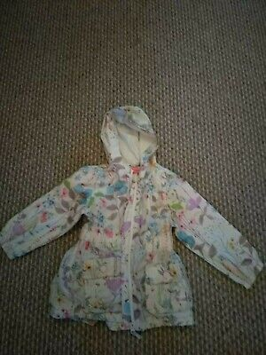 Girls spring Shower proof flower Jacket From Next age 2-3 years
